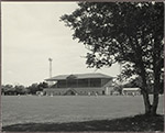 Cricket, Hutt Recreation Ground, Grandstand and Floodlight Towers